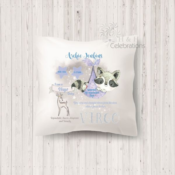 Virgo - Baby Star Sign Keepsake Cushion